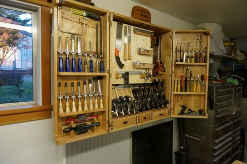 Building A Wall Hanging Tool Cabinet 7 Tool Cabinet 7 By Exelectrician Lumberjocks Com W Tool Cabinet Woodworking Workbench Woodworking Plans Storage