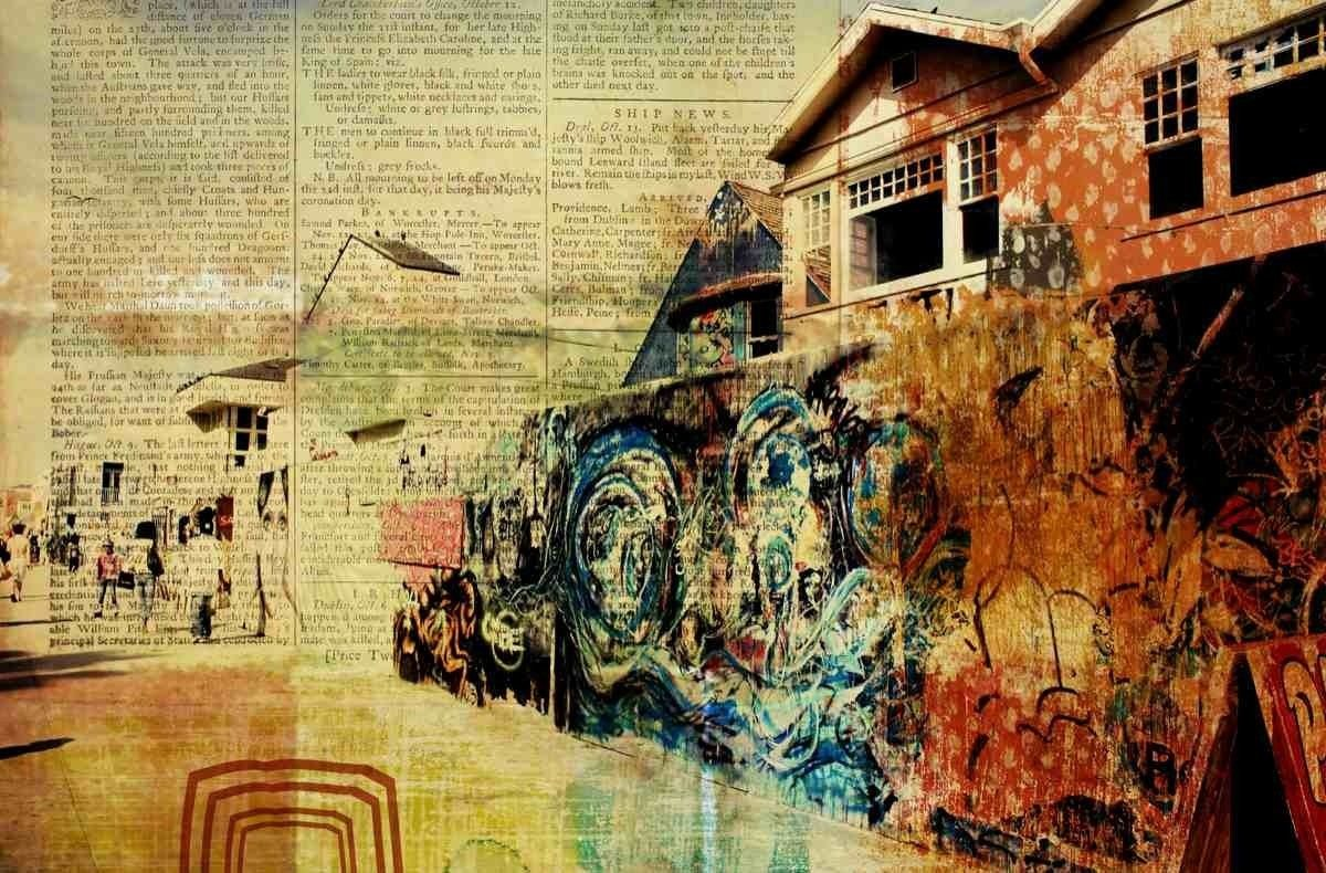 Venice-Art Walls. Rustic Brown Farmhouse Modern Canvas Art Print up ...