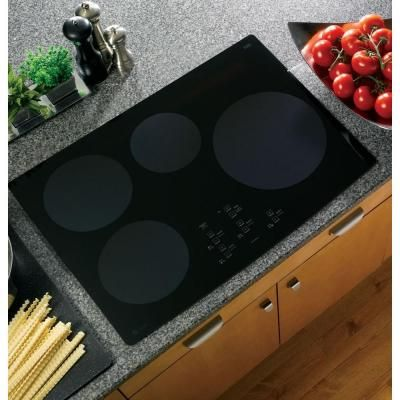 Ge Profile 30 In Ceramic Induction Cooktop In Black With 4