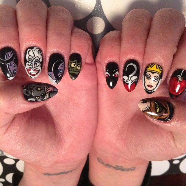 Nail Art Inspired by Disney\'s \