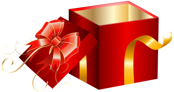 Opened Red Gift Box Png Clipart Image Red Gift Box Gifts Red Gift