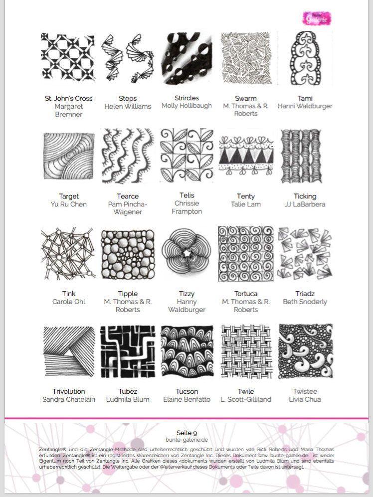 Pin Von Bunte Galerie Auf Zentangle Anleitungen Zentangle Muster Verflechtung Muster Und