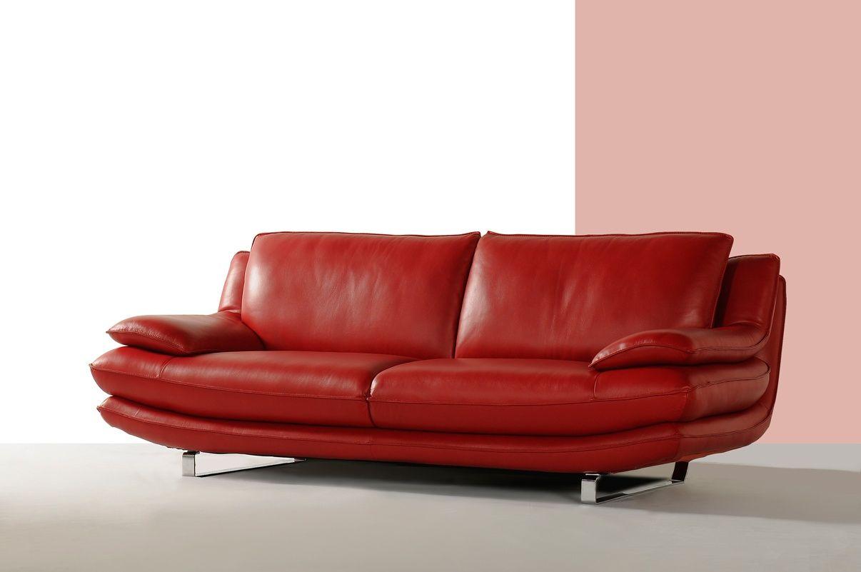 Beau Canapé Cuir Rouge Décoration Française Pinterest Canapé - Sofa en cuir