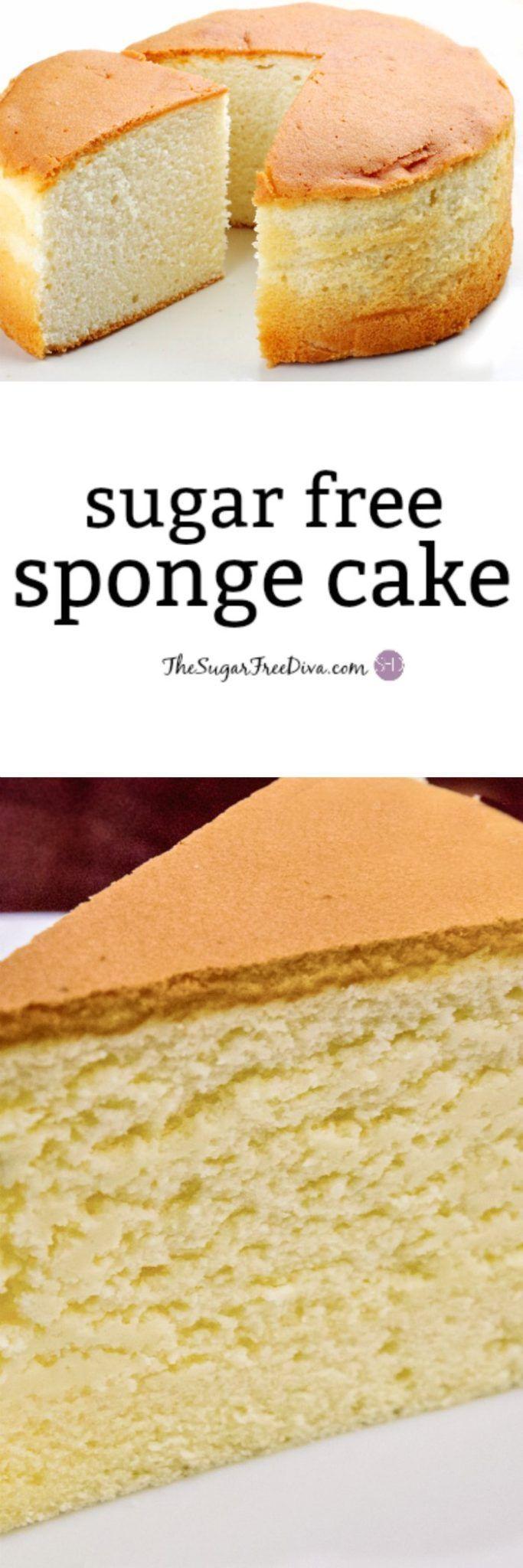 Sugar Free Sponge Cake- the recipe for how to make sugar free sponge cake.