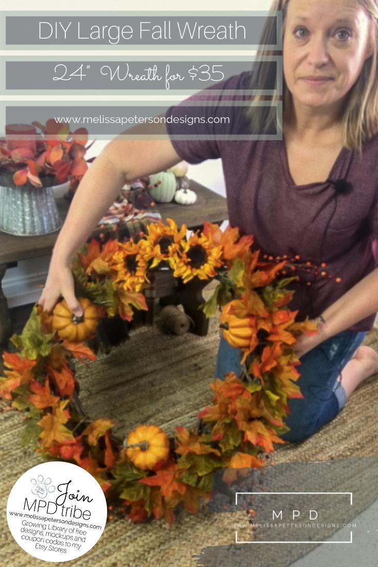 Photo of How I made my own big autumn wreath: Simple tutorial #DIYFallWreath #FallWreat …