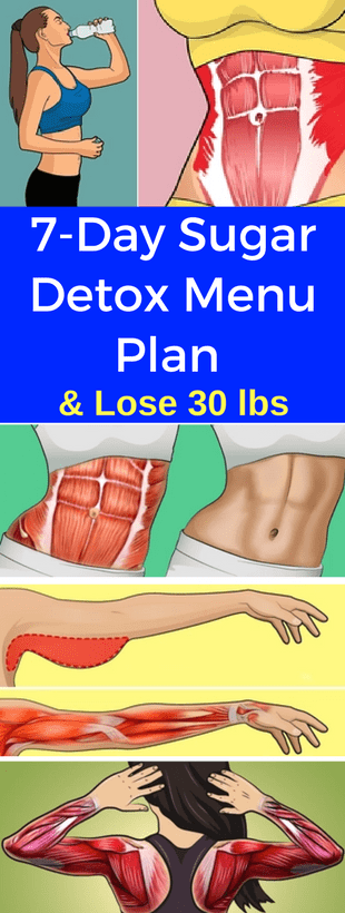 Here 7-Day Sugar Detox Menu Plan & Lose 30 lbs!!!  #lifehacks  #fitness