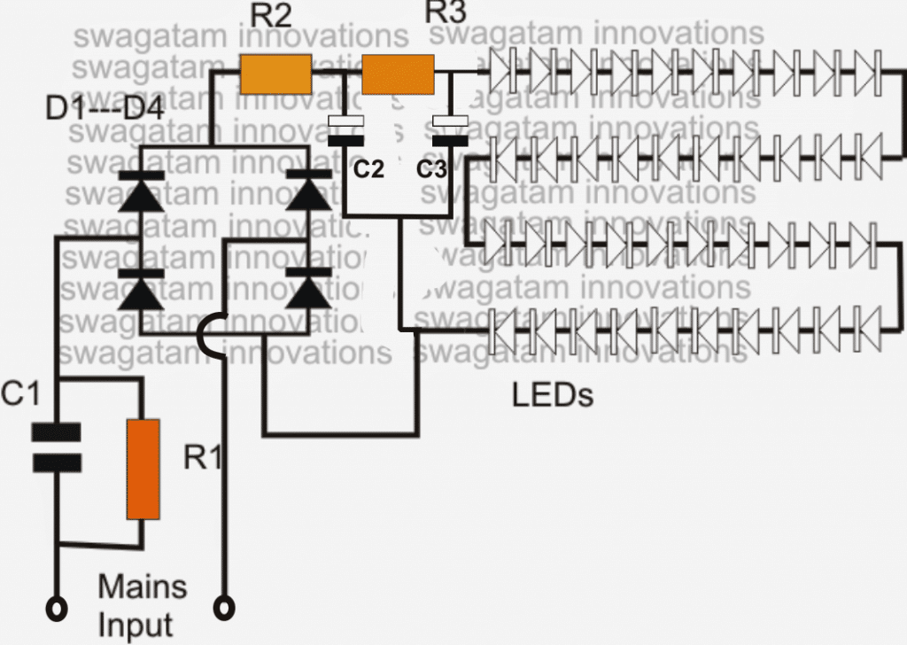 3 Best Led Bulb Circuits You Can Make At Home Homemade Circuit Projects Led Bulb Circuit Projects Circuit Diagram