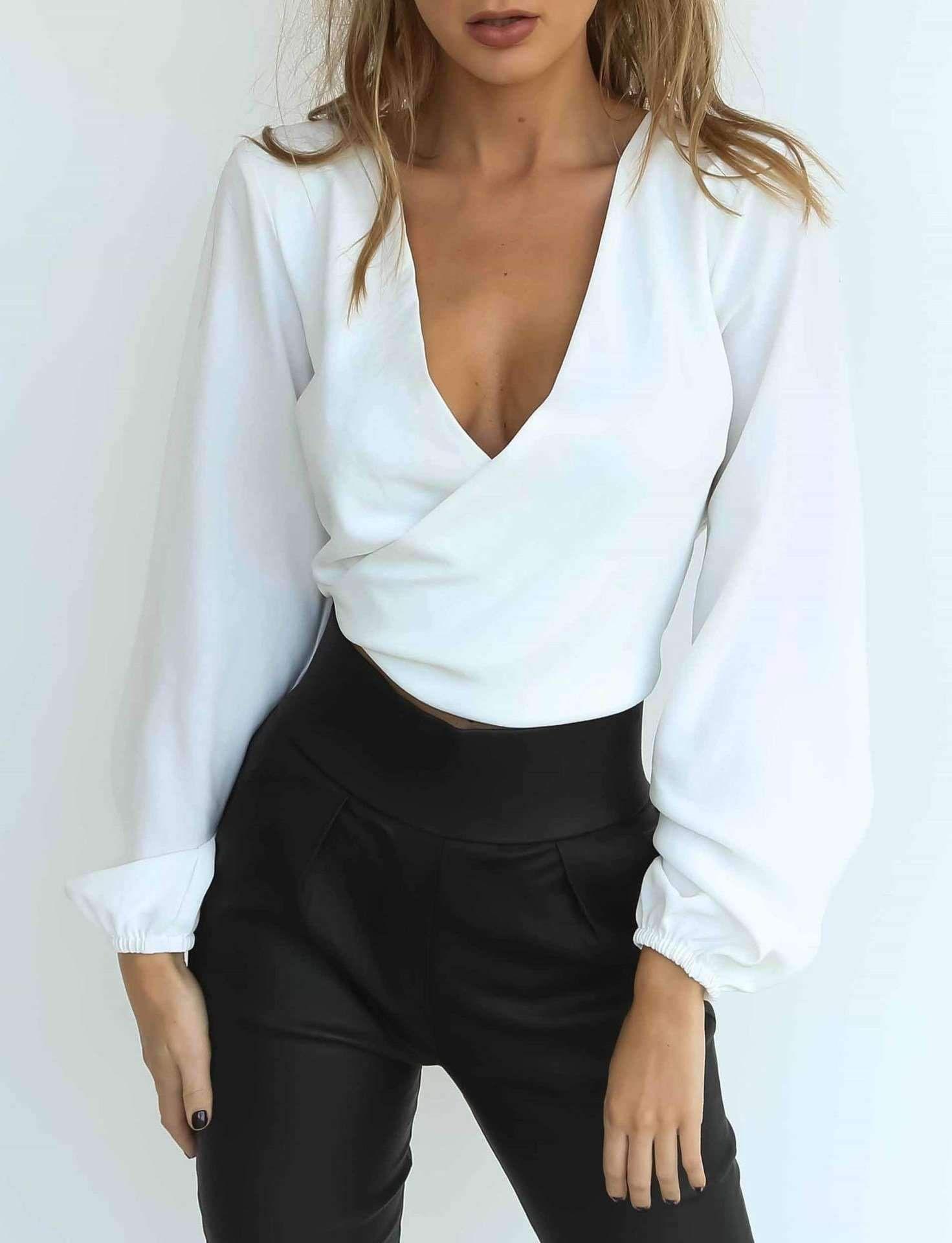 Pin On Blusas Cortas De Moda