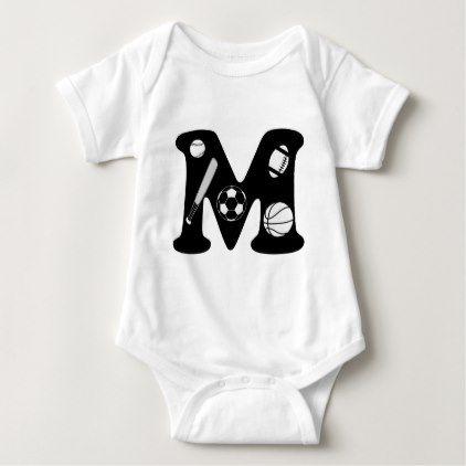 #cute #baby #bodysuits - #initial M Baby Bodysuit