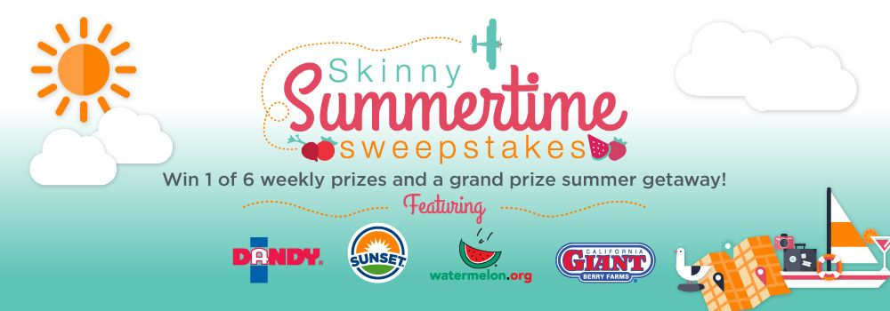 Six weekly giveaways. One grand prize.  Whole lotta' summer.
