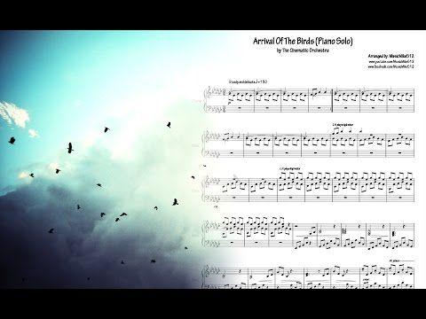 Piano Sheets The Cinematic Orchestra Arrival Of The Birds Piano Solo Youtube Piano Sheet Piano Free Piano Sheets