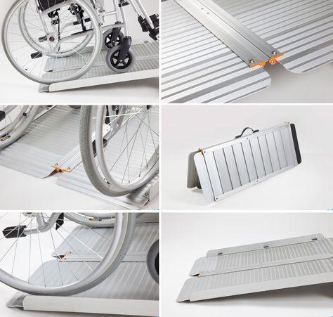 Rampas Plegable Rampa Silla De Plegables Aluminio Ruedas Para TFcKJl1
