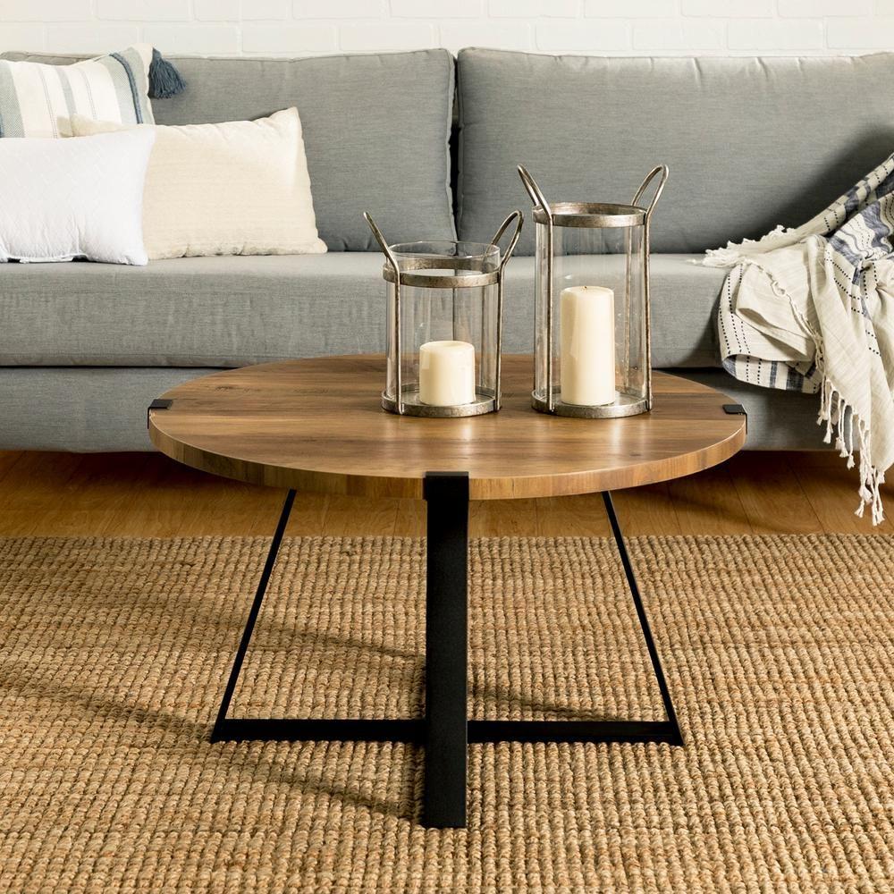 Living Room Furniture Home & Kitchen Rustic Oak Walker ...