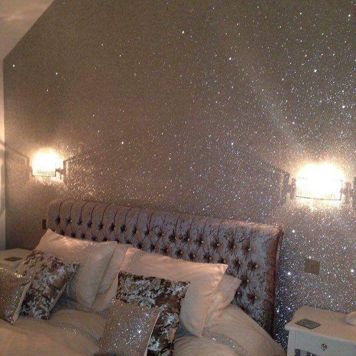 Silver Glitter Wall Glitterwall Glitterwallpaper Penny