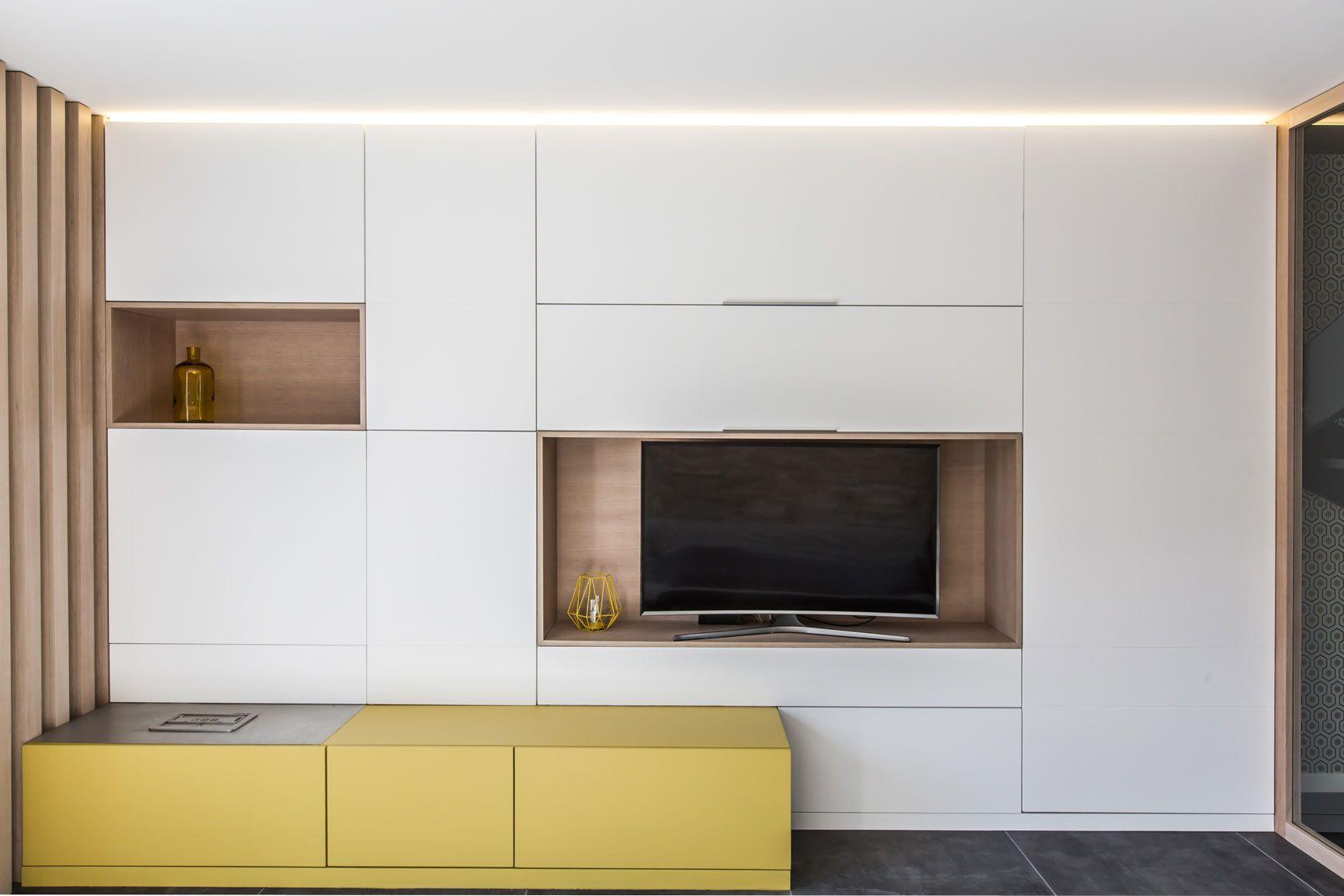Architecture Interieure Renovation Particulier Residentiel Appartement Sur Me Idee Deco Meuble Tv Architecture Interieure Meuble Rangement Salon