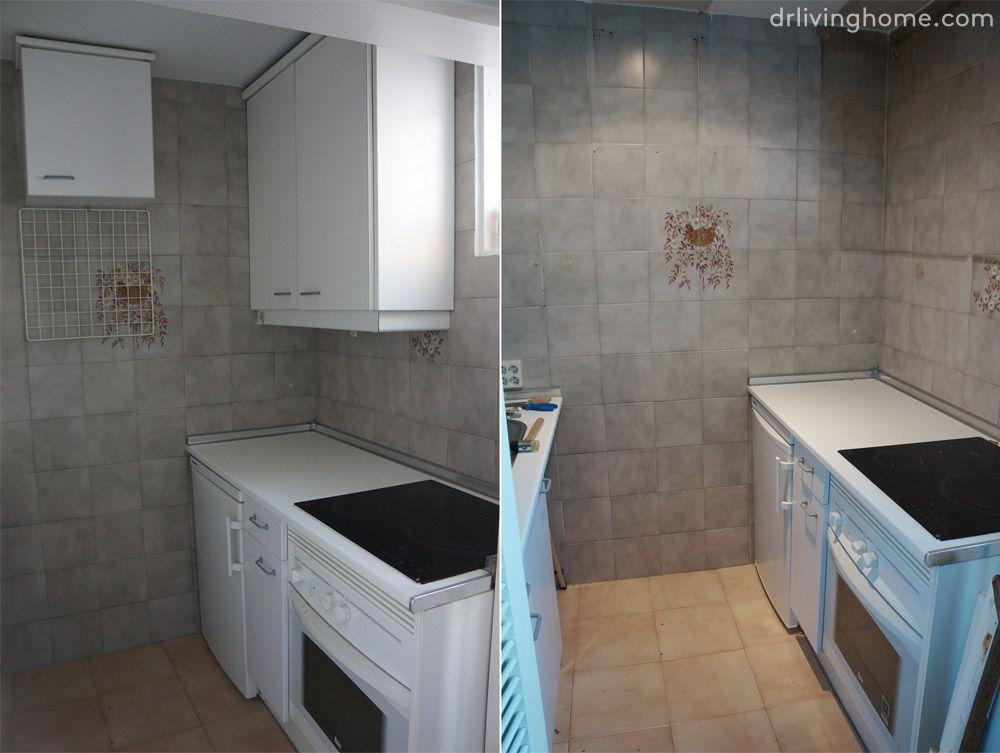 Renovar la cocina sin obras ii c mo tapar azulejos paso a - Cambiar azulejos cocina sin obra ...
