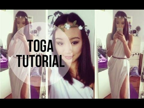 FAST AND EASY TOGA TUTORIAL - YouTube  sc 1 st  Pinterest & FAST AND EASY TOGA TUTORIAL - YouTube | Costumes that Iu0027ll never ...