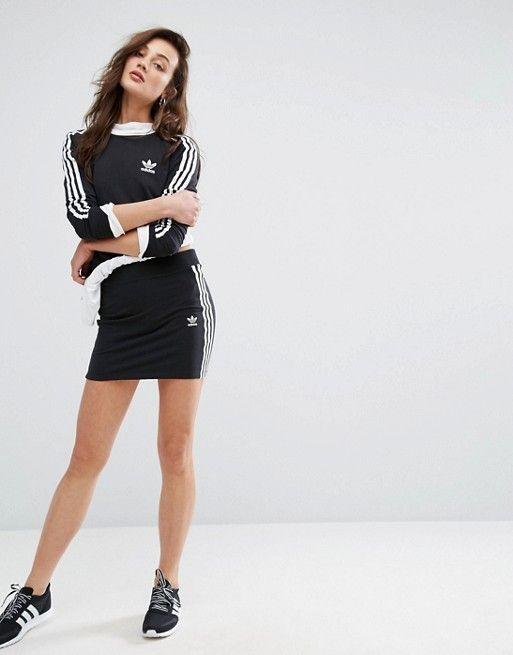 Falda adidas Originals Originals adidas de 14873 tres rayas negras | 9cbcf6d - accademiadellescienzedellumbria.xyz