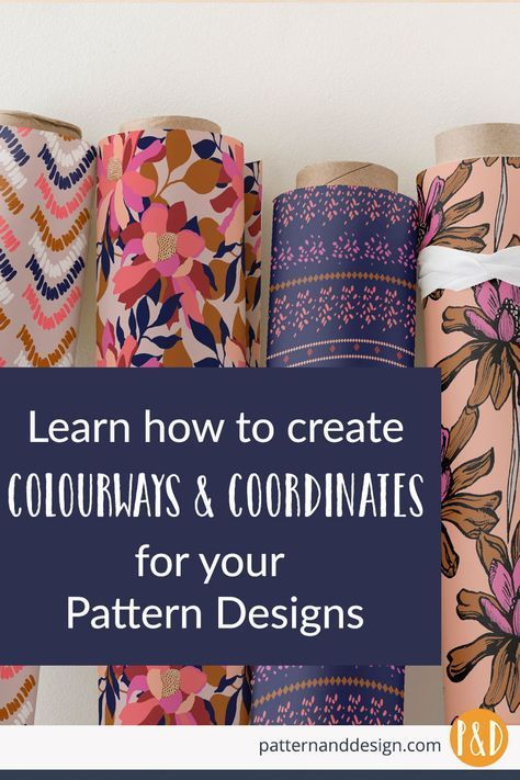 The secrets behind creating colorways and coordinate designs