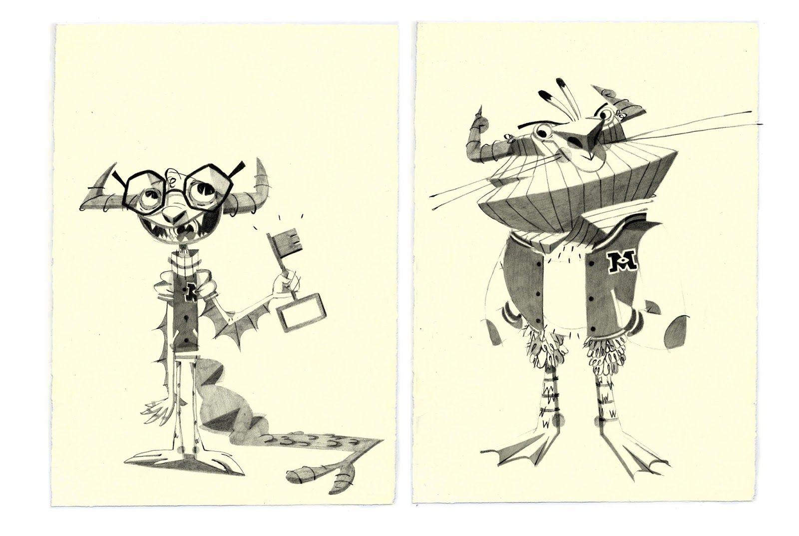Monstre Academy : Disney Art Challenge  Character Design