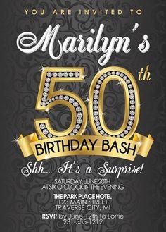 Unique 50th Birthday Invitations