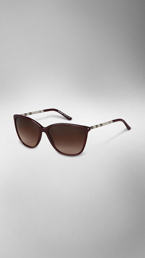 CHECK WRAPPED CAT EYE SUNGLASSES | Burberry