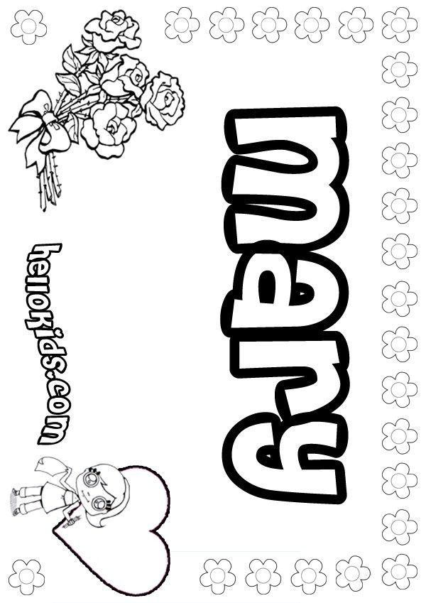 Mary Coloring Page Coloring Pages Printables Templates Pinterest