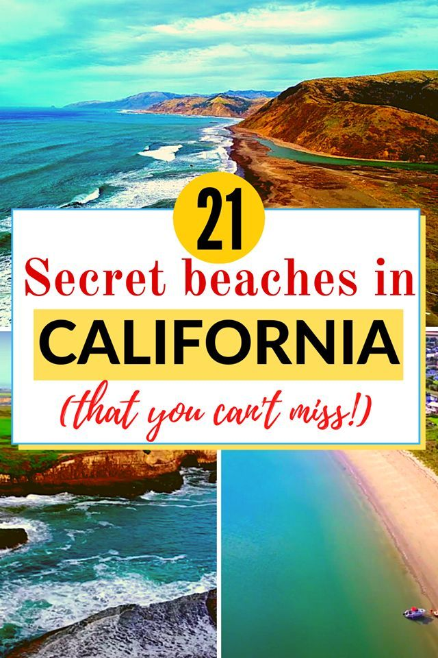 21 Hidden Beaches in California For a Peaceful Get