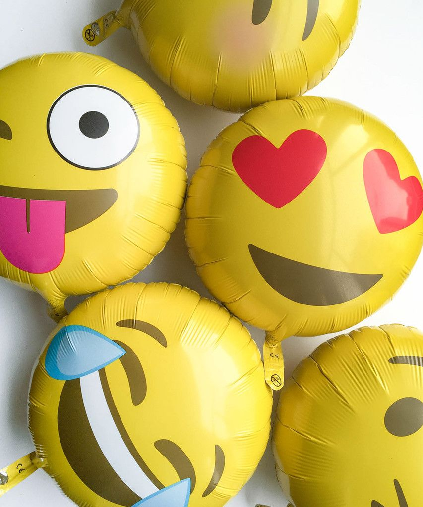 Pin on Emoji Birthday Party