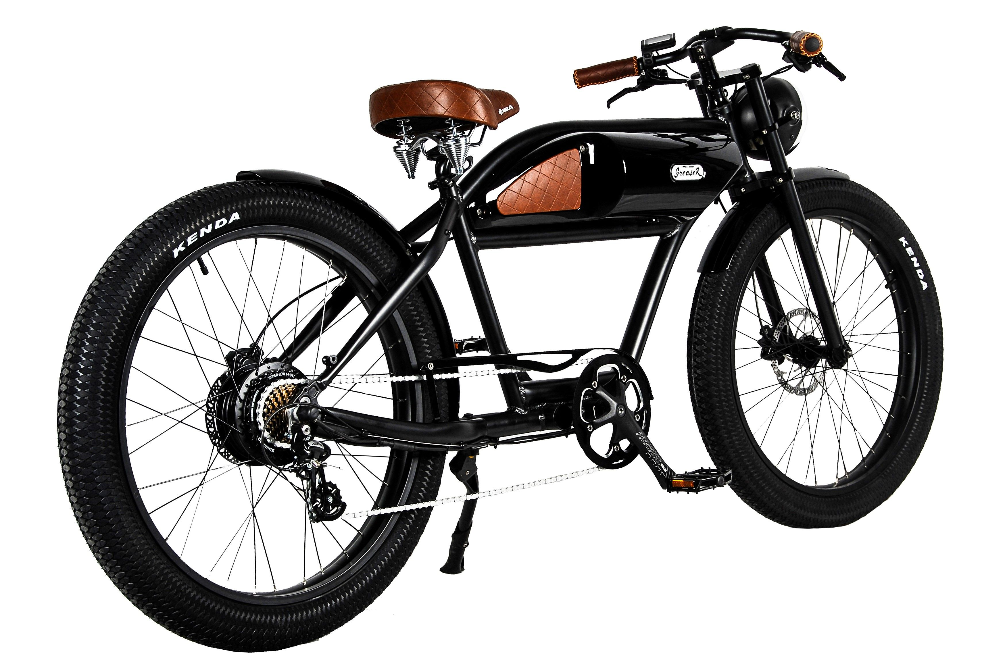 greaser das vintage e bike in mattschwarz moto. Black Bedroom Furniture Sets. Home Design Ideas