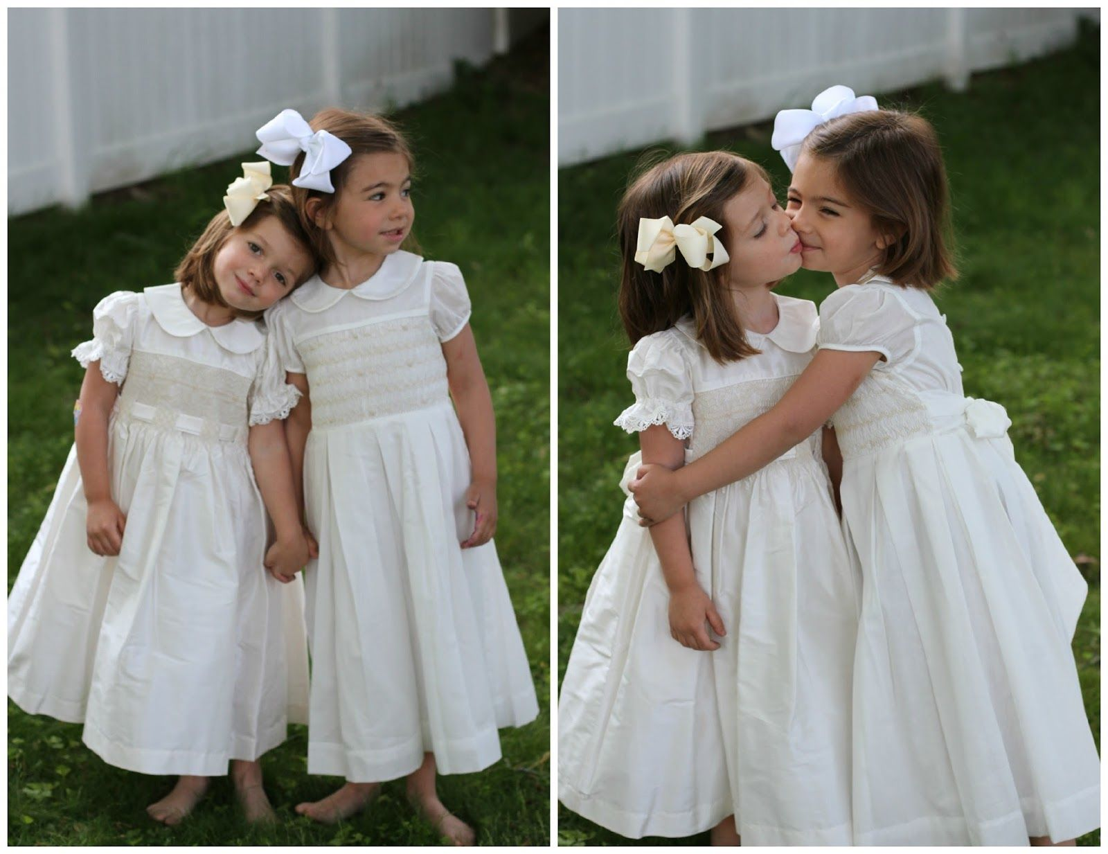 Silk or cotton flower girl dresses, decisions, decisions ...
