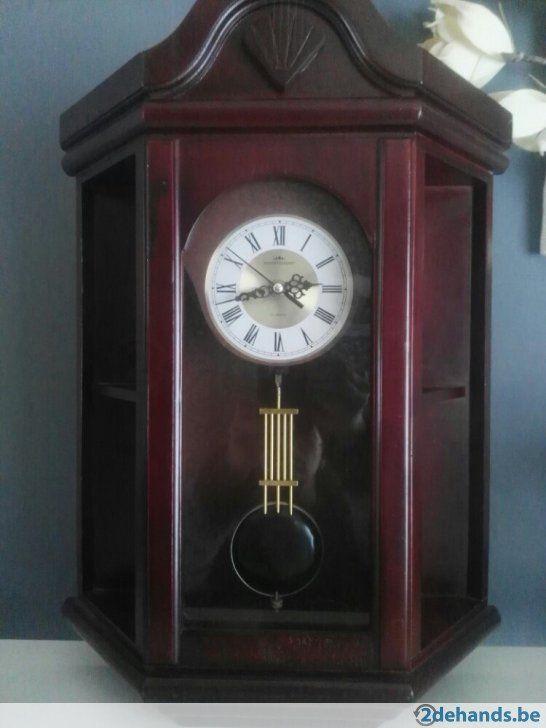 super mooie klok kan zowel hangen als staan hoogte 50cm
