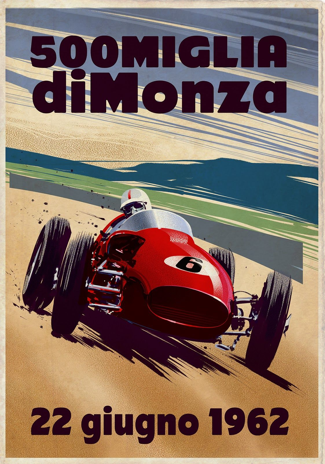Poster for the 1962 Monza 500 race, a non-championship race held to ...