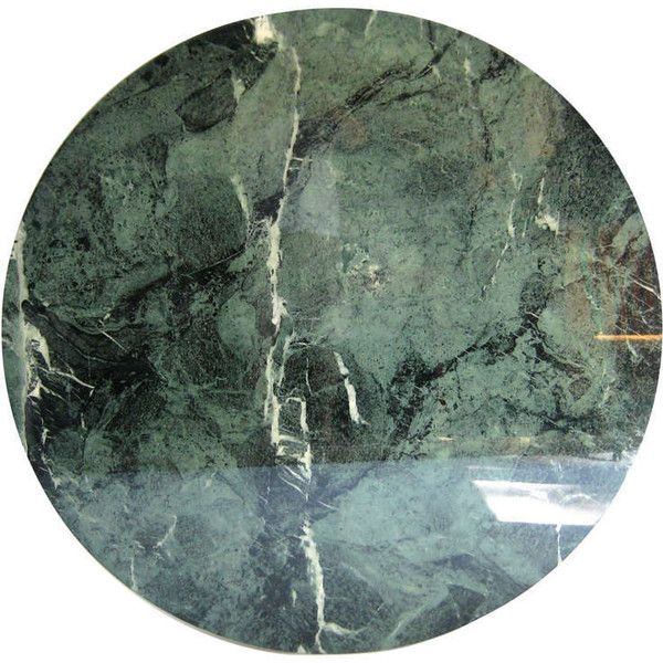 Italian Round Green Marble Table Top Found On Polyvore Marble Table Top Stone Table Top Marble Table