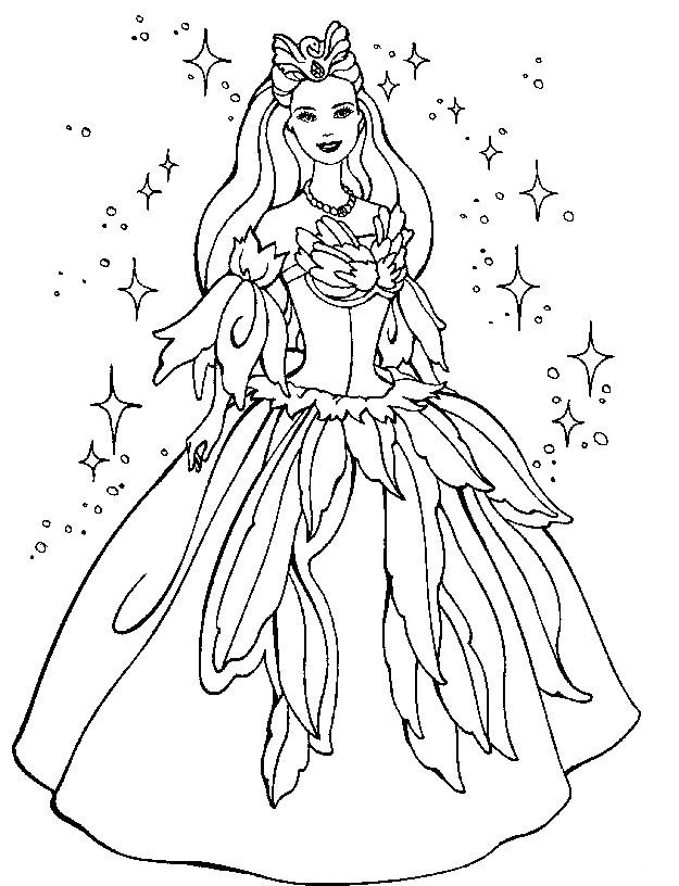 Barbie Doll Printable Coloring Pages