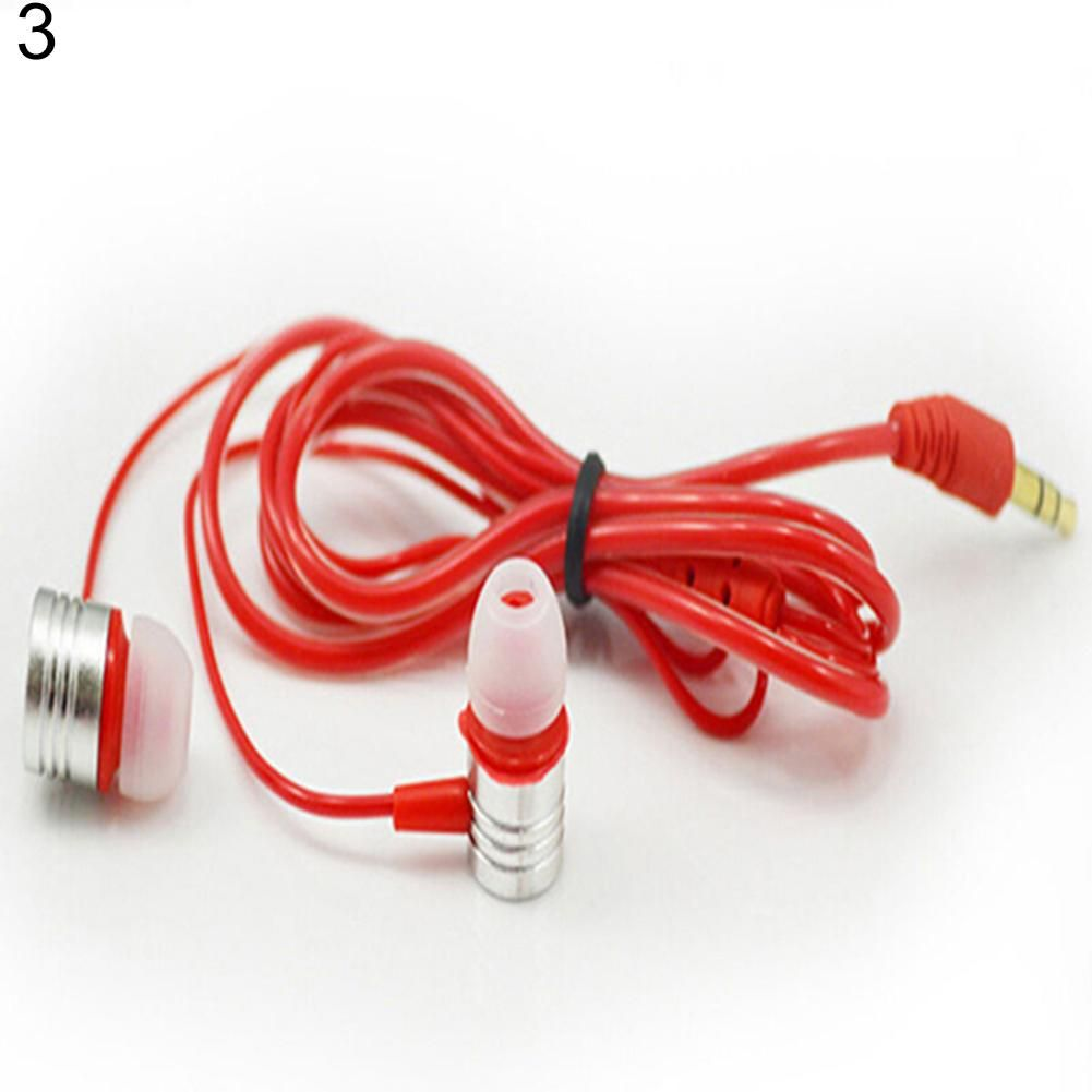 Universal 3.5mm In-ear Stereo Earbuds Headphone Earphone Headset for Cell Phone - Red