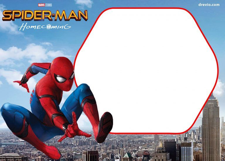 free spiderman homecoming invitation template  spiderman