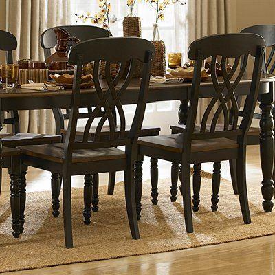 Homelegance Dining Chair 1393bks Ohana Side