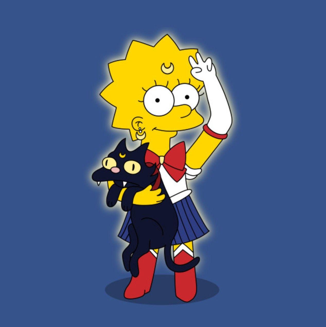 Lisa X Sailor Moon The Simpsons Sailor Moon Simpsons Halloween Sailor