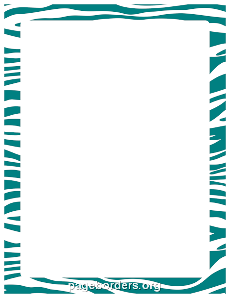 printable teal zebra print border. use the border in microsoft, Wedding invitations