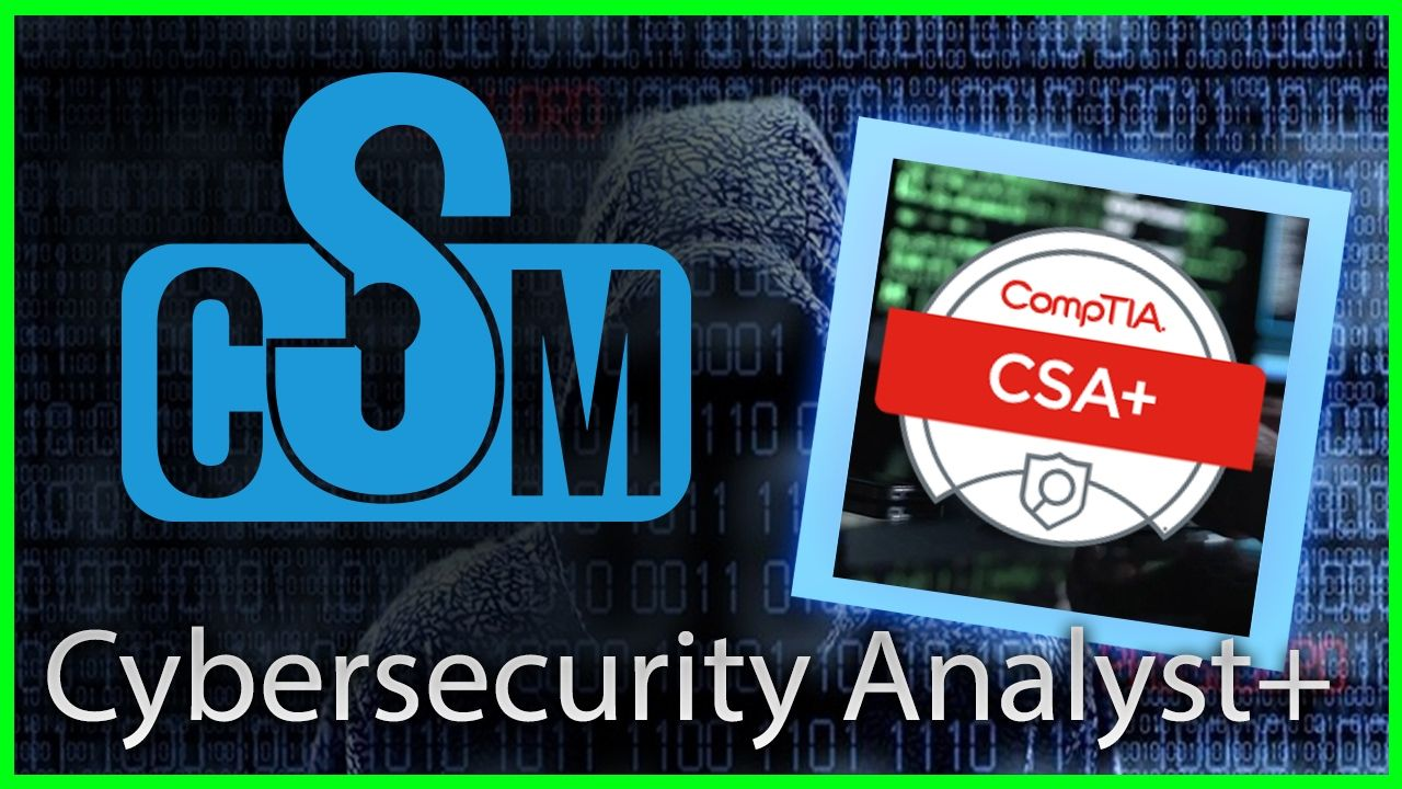 Comptia cybersecurity analyst csa certification cyber