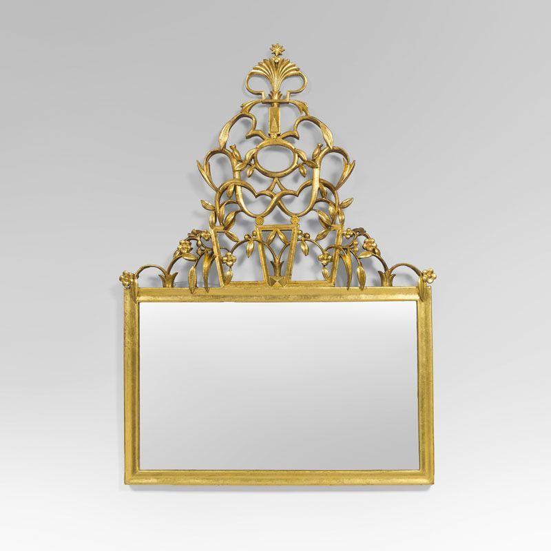 Dagobert Peche (1887-1923), Mirror, Carved Gilt Wood,