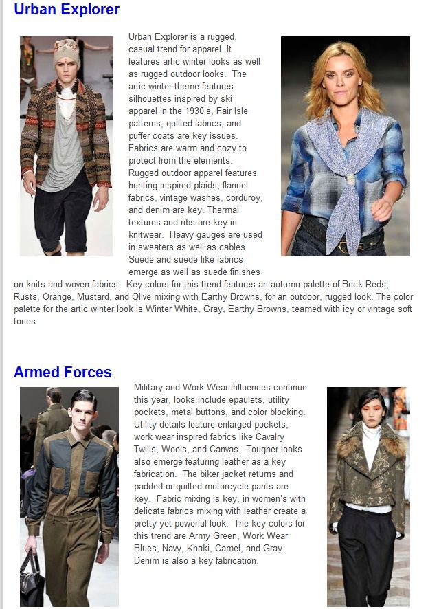 Trend Fall-Winter 2013/14 Urban Explorer and Armed forces