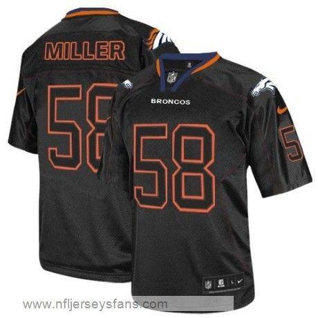 Cheap Von Miller jersey mens elite Denver Broncos Black & Cheap ...