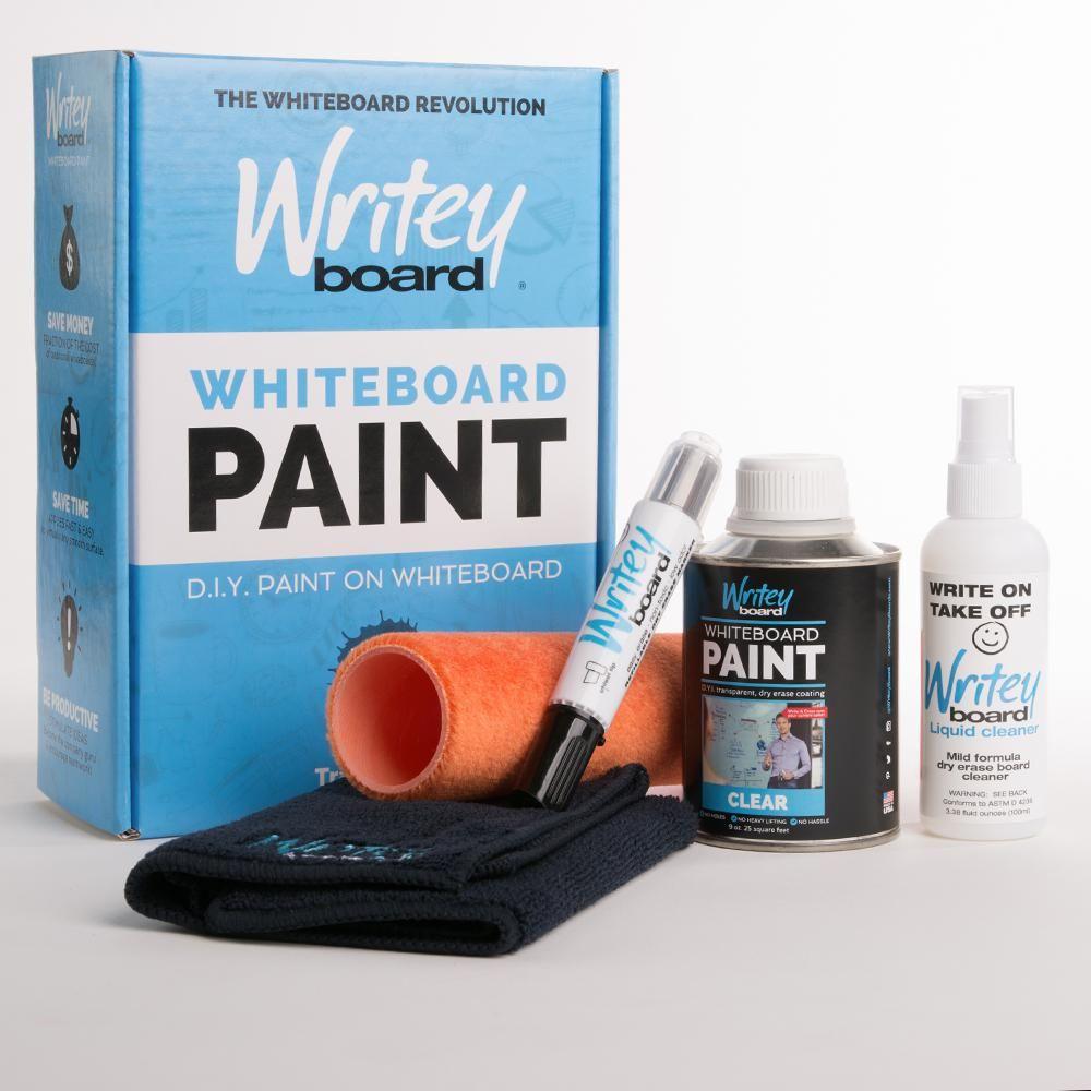 25 Sq Ft Transparent Gloss Whiteboard Paint Kit 30251 Pk The Home Depot Whiteboard Paint Dry Erase Paint Paint Kit