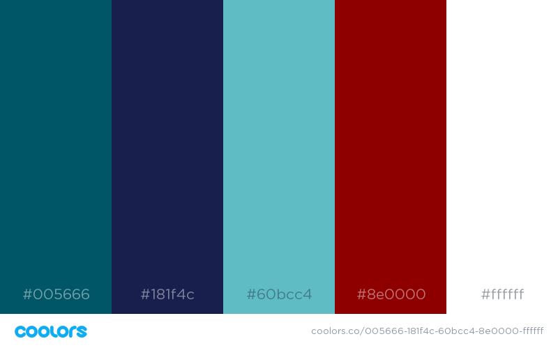 Color Scheme Teal Navy Red Blue Color Schemes Teal Color Schemes Teal House
