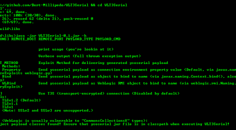 WLT3Serial is an Native Java-based deserialization exploit for