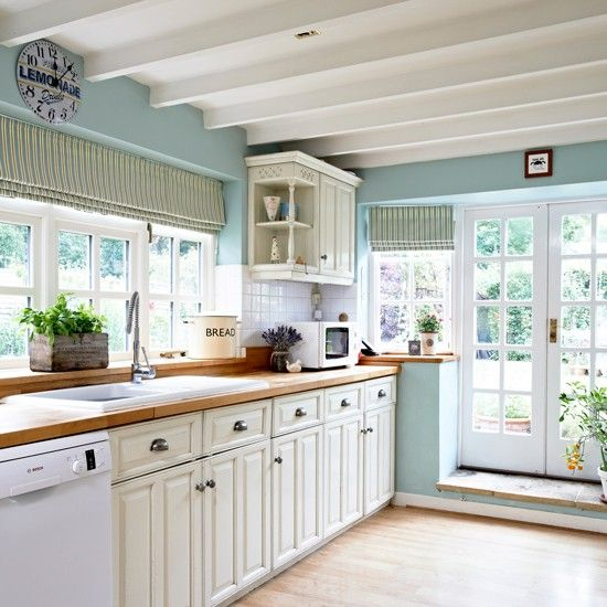 Pin By Audieloup On Kitchen Blue Country Kitchen Blue Kitchen Walls Country Kitchen