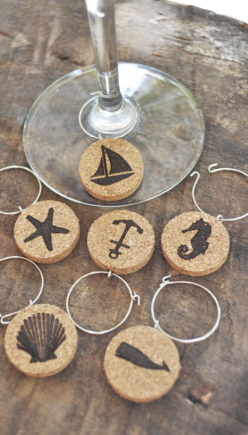 Nautical Wine Glass Charm Housewarming Gift Wedding Gift Idea