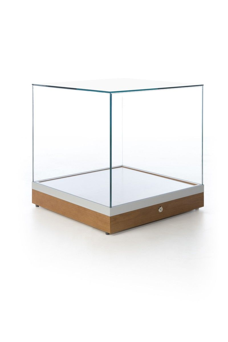 Glass Display Cabinet Showcases: Glass Display Case Cube 20 Inch Subastral